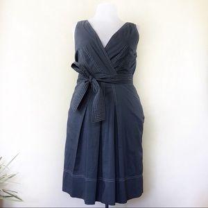 BCBG Maxazria Steel Blue Fit And Flare Dress
